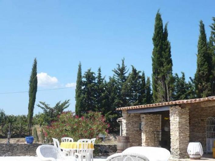 Location de vacances - Chambre d'hôtes à Apt - Auvent du solarium