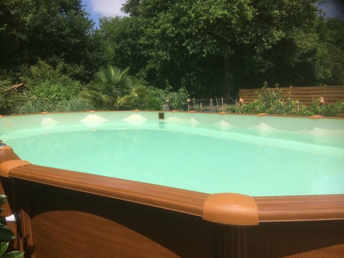 Location de vacances - Gîte à Lue - piscine  de  9 mètres sur 5,    échelle sécurisée.