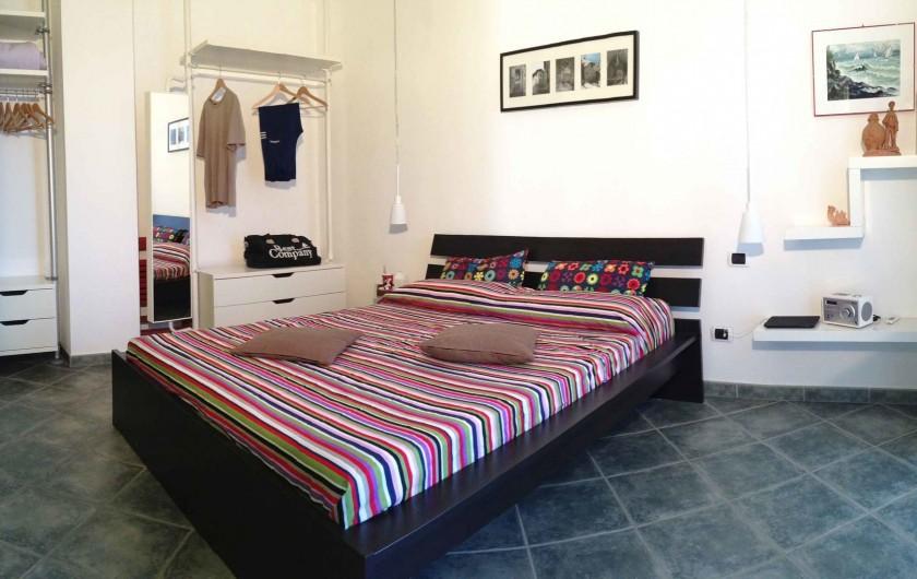 Location de vacances - Appartement à Bellano - appt 703 - la chambre double - vue sur le lac