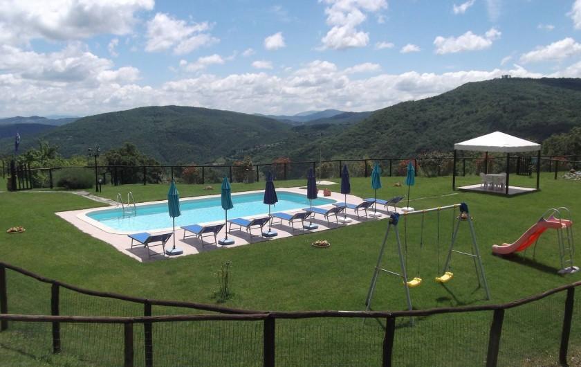 Location de vacances - Appartement à Cortona - piscine