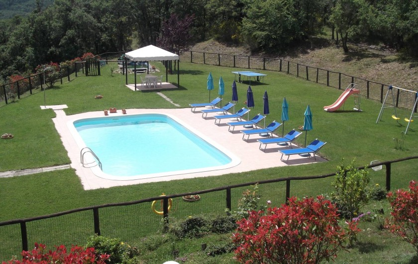 Location de vacances - Appartement à Cortona - piscine