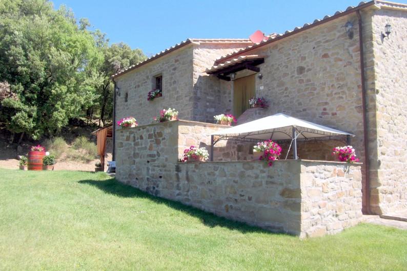 Location de vacances - Appartement à Cortona - Appartement la Rosa: premier étage entrée