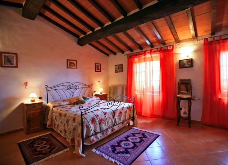 Location de vacances - Appartement à Cortona - Appartement la Rosa: Chambre double