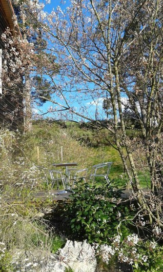Location de vacances - Chalet à Riotord - Terrasse ensoleillée en plaine nature