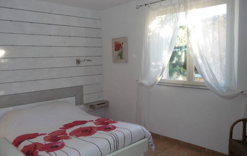 Location de vacances - Villa à Fréjus - chambre1  rez de chaussée lit en 160