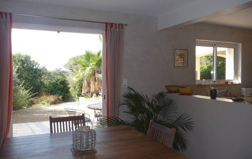 Location de vacances - Villa à Fréjus - salle à manger