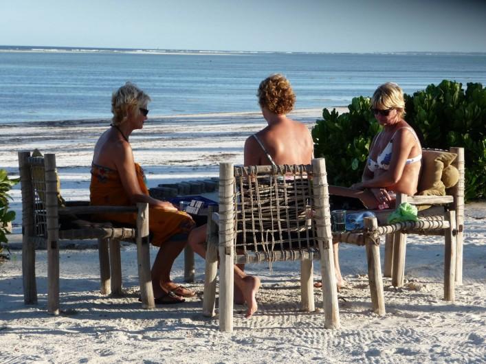 Location de vacances - Villa à Zanzibar - Jeux de société , en fin d'après-midi .