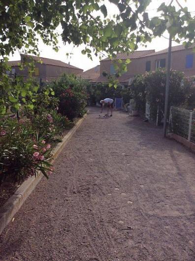 Location de vacances - Maison - Villa à Portiragnes - piétonnier devant la maison