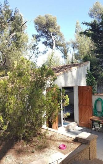 Location de vacances - Bungalow - Mobilhome à Saint-Cyr-sur-Mer - Intérieur studio