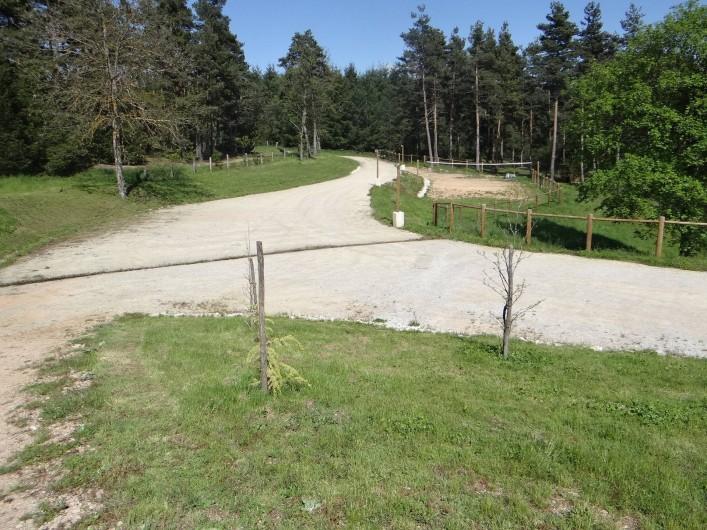 Location de vacances - Gîte à Monistrol-sur-Loire - extérieur avec terrain volley ou pétanque