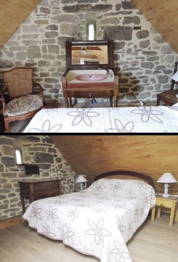 Location de vacances - Gîte à Saint-Jean-Trolimon - Chambre 1 = 1 lit (2 pers), avec TV et meuble marin avec vasque (eau chaude)
