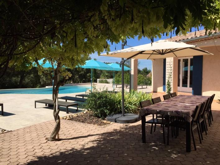 Location de vacances - Maison - Villa à Allemagne-en-Provence - terrasse