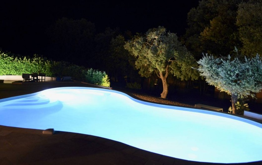 Location de vacances - Maison - Villa à Allemagne-en-Provence - piscine éclairée
