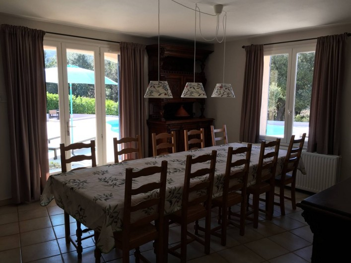 Location de vacances - Maison - Villa à Allemagne-en-Provence - salle à manger