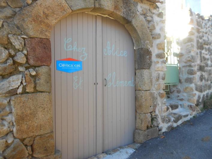 Location de vacances - Gîte à Vals-les-Bains - L'entrée du gite/maison de caractère