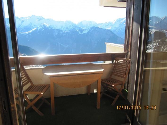Location de vacances - Studio à L'Alpe d'Huez - Vue Imprenable