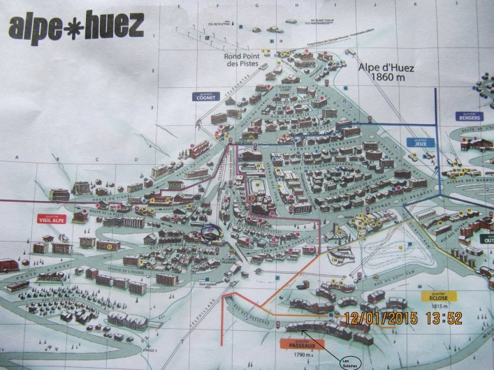 Location de vacances - Studio à L'Alpe d'Huez - Plan de Situation