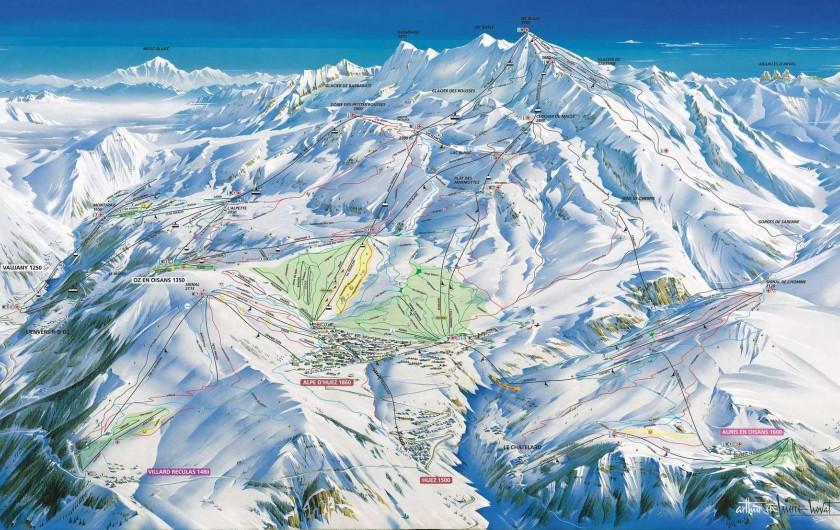 Location de vacances - Studio à L'Alpe d'Huez - Plan des Pistes