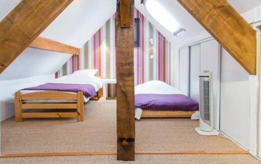 Location de vacances - Gîte à Saint-Michel-sur-Loire - Chambre de l'étage avec 2 lits simples