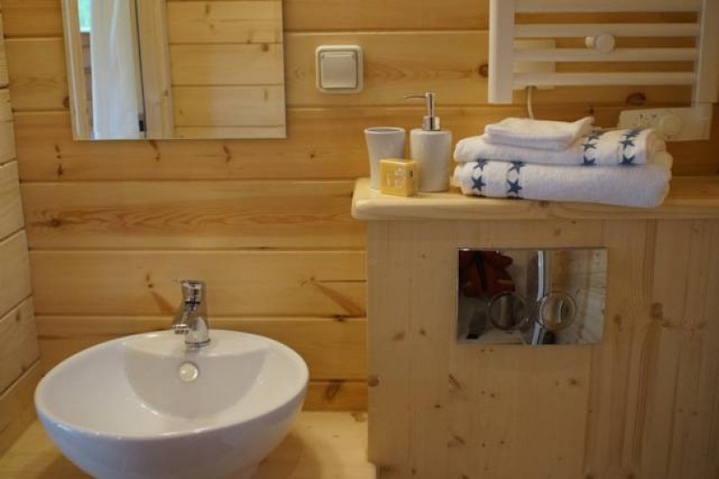 Location de vacances - Roulotte à Matour - La salle de bain