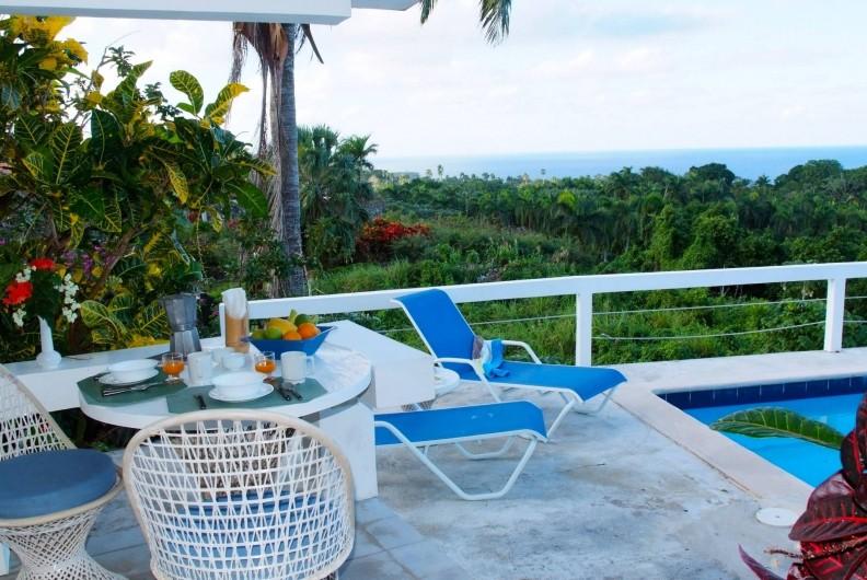 Location de vacances - Villa à Cabrera - Table de la terrasse avec vue sur la mer