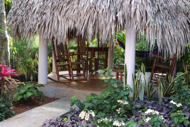 Location de vacances - Villa à Cabrera - Kiosque du studio meublé avec hamac