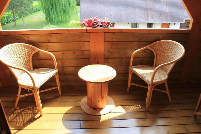 Location de vacances - Chambre d'hôtes à Poses - Balcon privatif