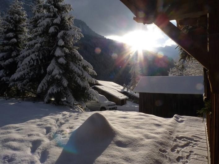Location de vacances - Chalet à Saint-Gervais-les-Bains - Vu de la terrasse