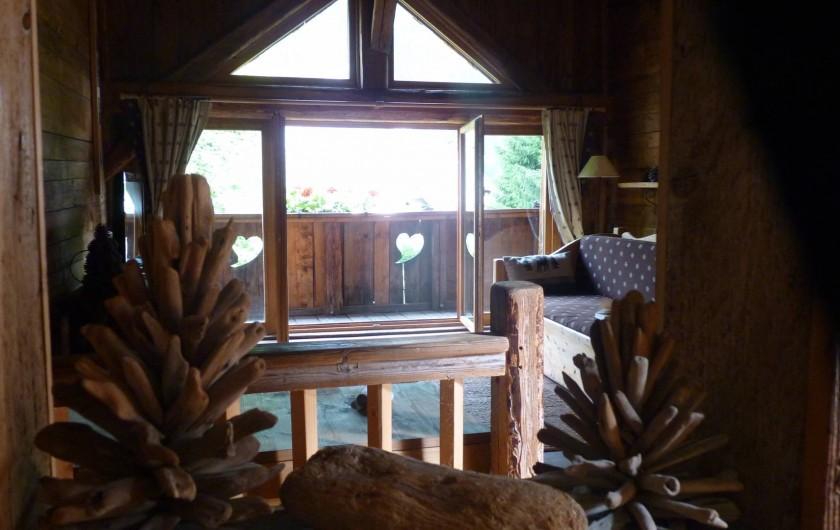Location de vacances - Chalet à Saint-Gervais-les-Bains - Petit salon du haut ,au dessus du salon du bas