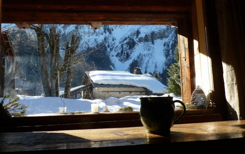 Location de vacances - Chalet à Saint-Gervais-les-Bains - de la longue table à manger