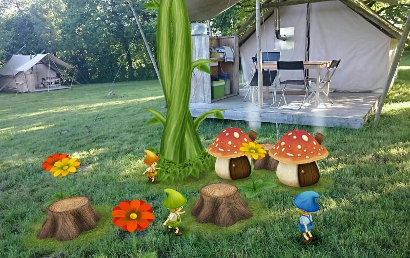 Location de vacances - Tipi à Saint-Vincent-en-Bresse - On dit qu'il y a de la magie  à la Marlière !