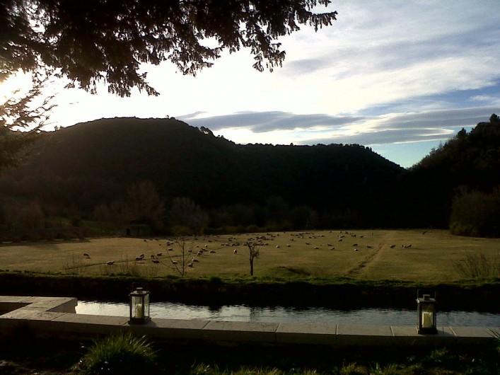 Location de vacances - Gîte à Montferrat - Le pré, l'aqueduc et mon troupeau