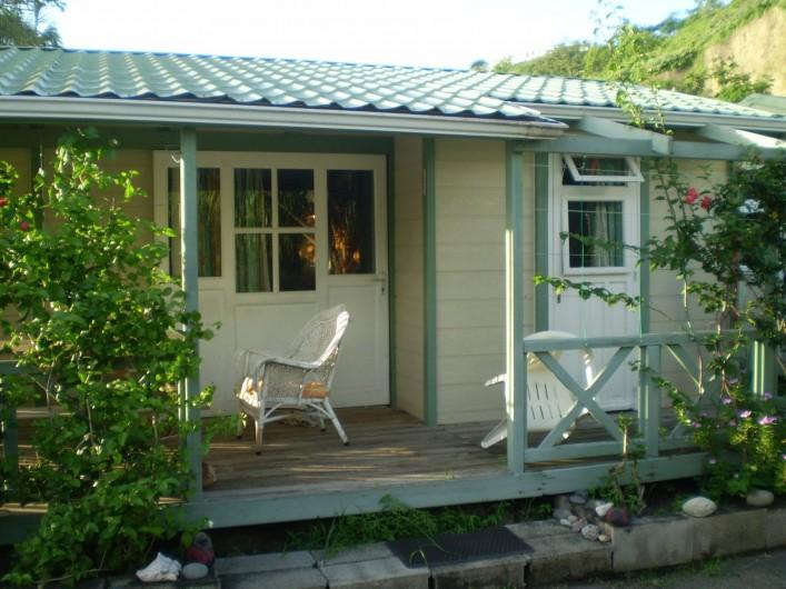 Location de vacances - Bungalow - Mobilhome à Le Carbet - Vue extérieure bungalow