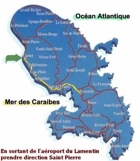 Location de vacances - Bungalow - Mobilhome à Le Carbet - Itinéraire