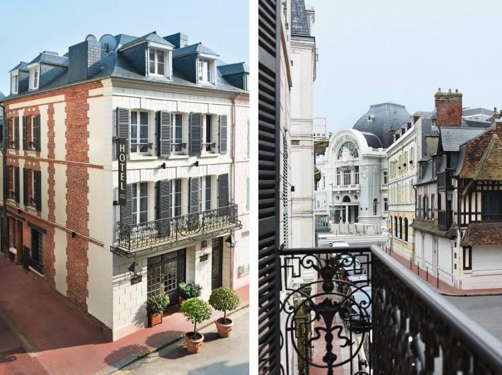 Location de vacances - Hôtel - Auberge à Trouville-sur-Mer - FACEDE ET VUE DE L'HOTEL