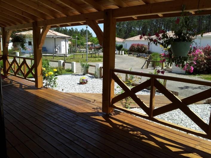 Location de vacances - Chalet à Lit-et-Mixe - vue de la terrasse