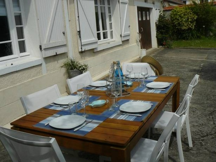 Location de vacances - Maison - Villa à Neuville-lès-Dieppe - La terrasse exposition sud