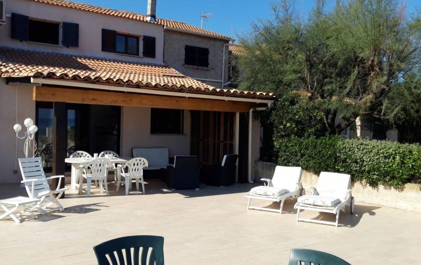 Location de vacances - Villa à Folelli - la maison sur la plage