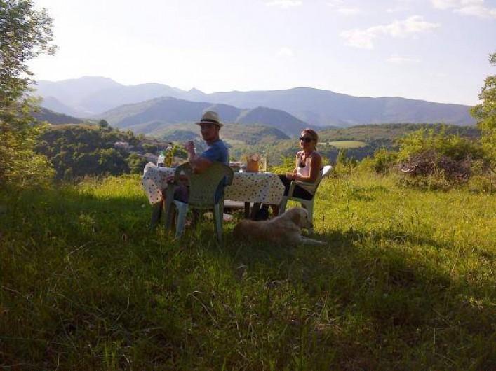 Location de vacances - Camping à Éourres - Vue superbe du camping.