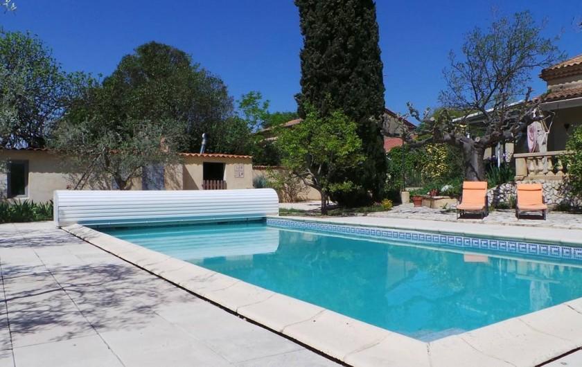 Location de vacances - Villa à Bezouce - Piscine sécurisée (norme nf P90-308)  Ouverture du 1er mai au 30 sept (9h/19h)