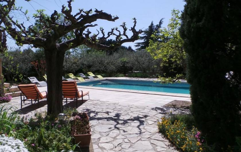 Location de vacances - Villa à Bezouce - Accès à la piscine et sa plage…