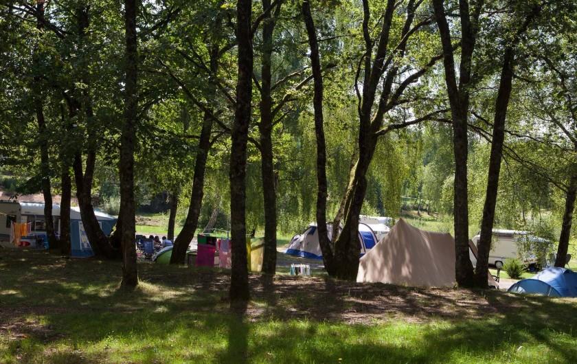 Location de vacances - Bungalow - Mobilhome à Beynat - Emplacements de camping ombragés et spacieux.