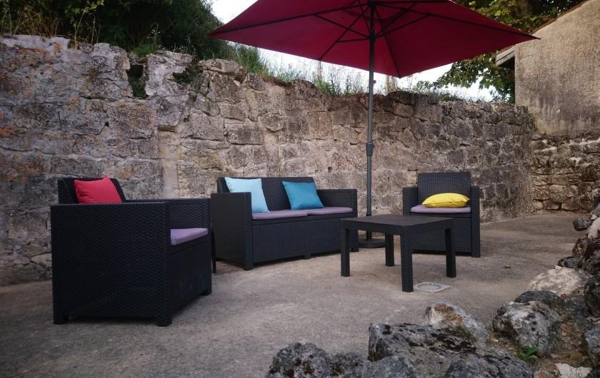 Location de vacances - Gîte à Bourg sur Gironde - Terrasse du pavillon