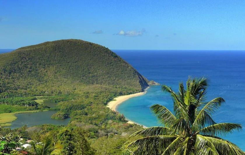 Location de vacances - Appartement à Deshaies - vue imprenable sur la plage de Grande Anse, en bas de chez nous