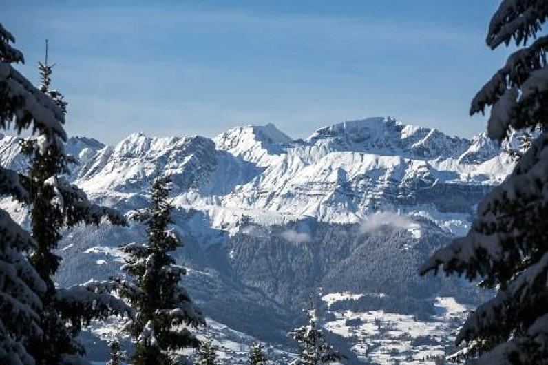 Location de vacances - Chalet à Saint-Gervais-les-Bains - Fabuleuse vue depuis le Spa