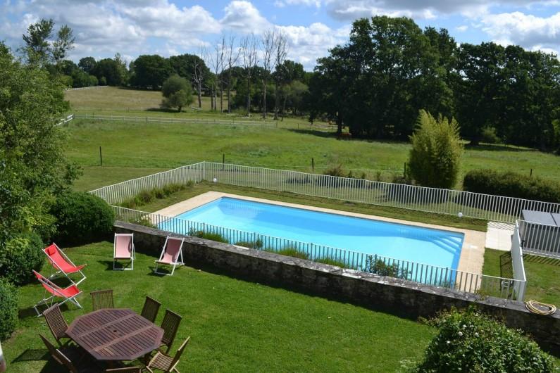 Location de vacances - Gîte à La Baconnière - Jardin et piscine privée