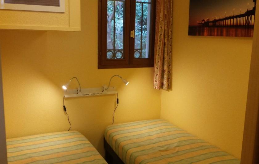 Location de vacances - Appartement à Cannes - La 2ème chambre 2X80X200 pouvant passé en 160X200.