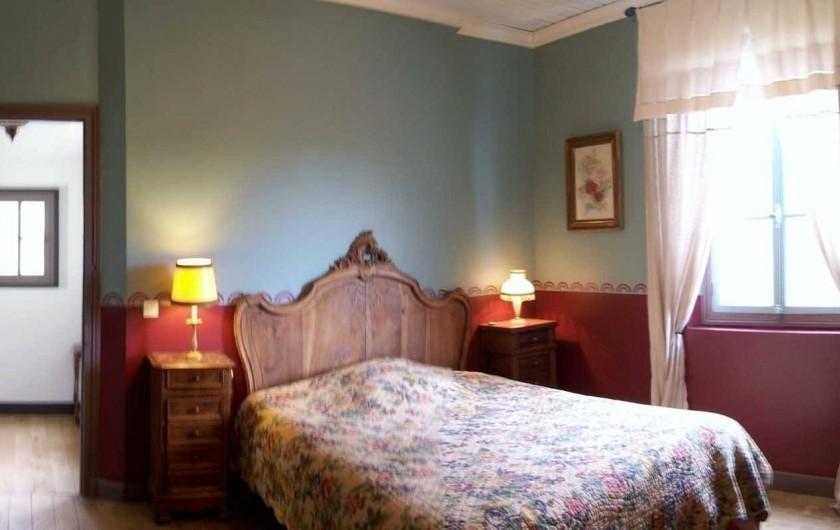 Location de vacances - Maison - Villa à Castéra-Verduzan - la chambre rouge, au 1° étage