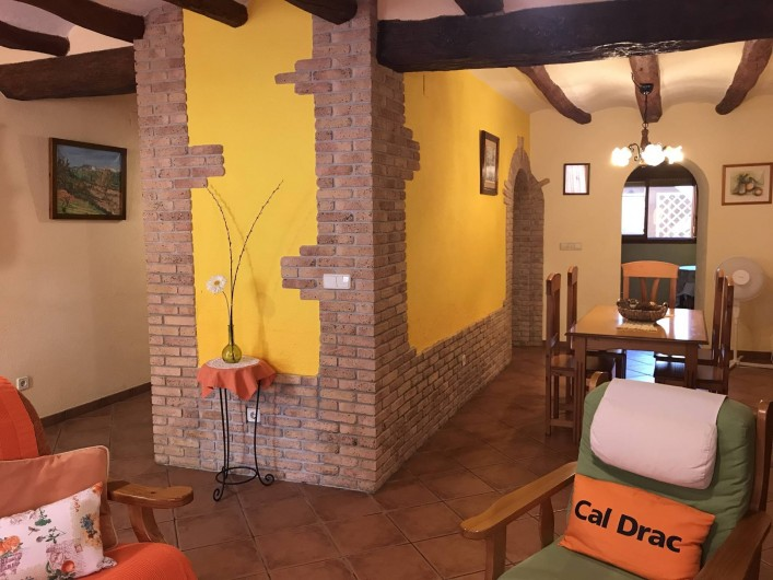 Location de vacances - Gîte à Puigdàlber - Salón comedor 1ª planta