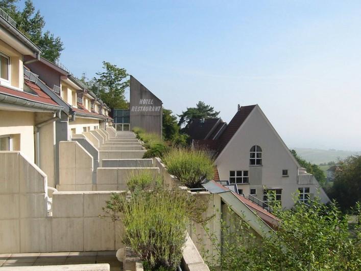 Location de vacances - Hôtel - Auberge à Husseren-les-Châteaux - terrasses des Chambres